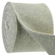 Bande de feutrine 15 cm 5 m bicolore gris, blanc