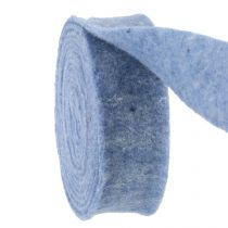 Bande de feutre bleu 7,5cm 5m