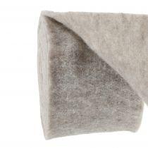 Ruban feutre, ruban pot gris-naturel 15cm 5m