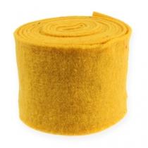 Ruban feutre 15cm x 5m jaune