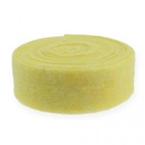 Bande de feutrine jaune clair 7,5 cm 5 m
