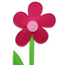 Fleur en feutrine fuchsia 120 cm