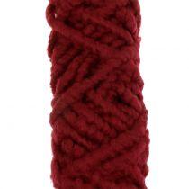 Cordon feutre polaire Mirabell 25m rouge foncé