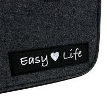 "Sac en feutrine ""Easy Life"" 39 x 22 x 25,5 cm gris"