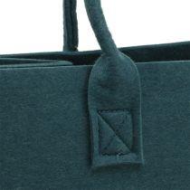 Sac en feutre bleu gris 40cm x 20cm x 25cm