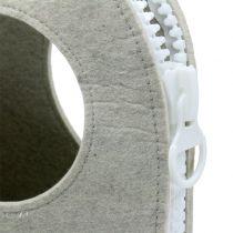 Pochette en feutrine grise H. 58 cm