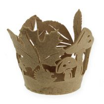 Pot en feutre automne feutre décoration jardinière feutre beige 2pcs