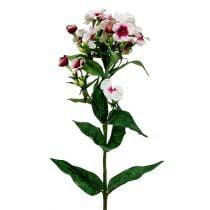Flamme fleur blanche 72cm