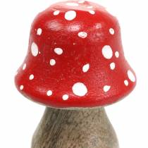 Tabourets décoratifs bois Ø4,6–5cm H6,8–7,2cm 4pcs
