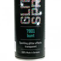 Spray scintillant pour fabriquer des guirlandes de peinture en aérosol colorées 400 ml