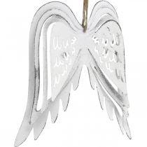 Ailes d'ange à accrocher, décoration de Noël, pendentifs métal blanc H11.5cm L11cm 3pcs