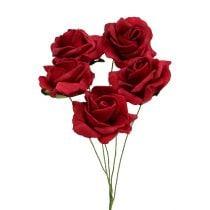 Rose mousse Ø4.5cm rouge 36pcs