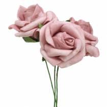 Rose mousse Ø3.5cm vieux rose 48pcs