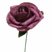 Mousse-Rose Ø3.5cm Mauve 48pcs