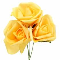 Mousse rose Ø10cm jaune 8pcs