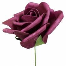 Mousse-Rose Ø10cm Mauve 8pcs