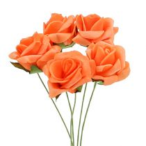 Rose mousse Ø 3.5cm orange 48pcs