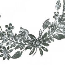 Décoration de printemps, bague décoration fleurs, décoration métal, pendentif décoration fleur Ø16cm 2pcs