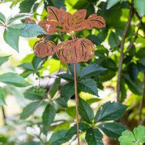 Bouchon de jardin citrouille rouille décoration de jardin automne métal 57cm