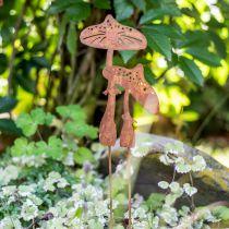 Bouchon de jardin paire de champignons Edelrost H49.5cm
