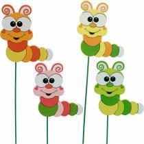 Bouchon de jardin Caterpillar Flower Plug Décoration de printemps Décoration d'été 16pcs