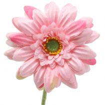 Gerbera artificiel rose 47 cm 12 p.