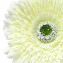 Gerbera artificiel blanc 62cm 6pcs