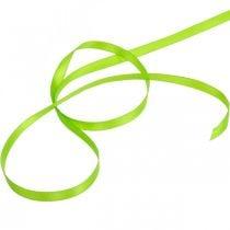 Ruban noeud, ruban cadeau vert clair 6mm 50m