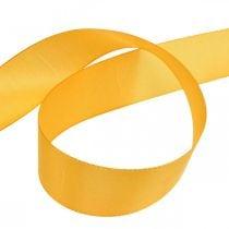 Ruban cadeau ruban décoration ruban de soie orange 40mm 50m