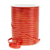 Ruban cadeau rouge avec bande dorée 4,8 mm 250 m