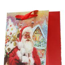 Sac cadeau Père Noël 32cm x 26cm x 10cm