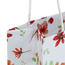 Pochettes à cadeaux avec fleurs 25 x 20 x 11 cm 6 p.