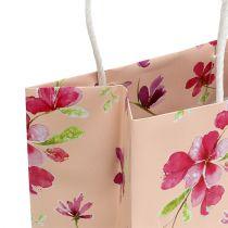 Pochettes à cadeaux avec fleurs 20 x 11 x 25 cm 6 p.