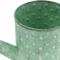 Arrosoir décoratif métal vert Ø12cm H13cm