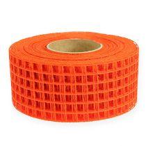 Ruban quadrillé 4,5 cm x 10 m orange