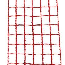 Ruban grillagé rouge 4,5 cm x 10 m