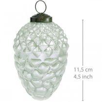 Arbre décoration cônes fruits d'automne verre véritable aspect antique Ø7cm H11.5cm 6pcs
