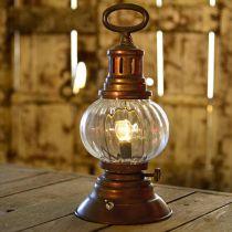 Lanterne tempête LED, lampe en métal, lampe décorative, look vintage Ø12,5cm H30cm