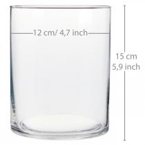Vase en verre Ø12cm H15cm