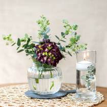 Vase en verre nervuré Ø11cm H10cm