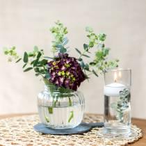 Vase en verre avec base transparente Ø6cm H15cm