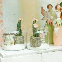 Lanterne en verre, vase déco, décoration bougie Ø18.5cm H21cm