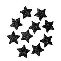 Étoile scintillante noire 2.5cm 100pcs