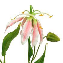 Gloriosa Rosa-Weiß künstlich 84cm 3P