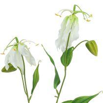 Gloriosa artificielle en blanc 84cm 3P