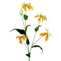 Branche de lys glorieux jaune-orange 90 cm 1 p.