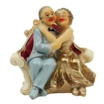 Figurine noces d'or H. 10 cm