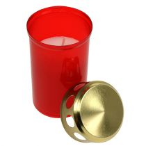 Grave lumière cylindrique rouge Ø6cm H10cm 12pcs