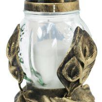Lampe funéraire Ø12,5cm H19,5cm blanc 6pcs