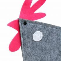 Robinet décoratif en feutre à pois gris, blanc, rose 30cm x 5cm H31.5cm Décoration de Pâques, vitrine